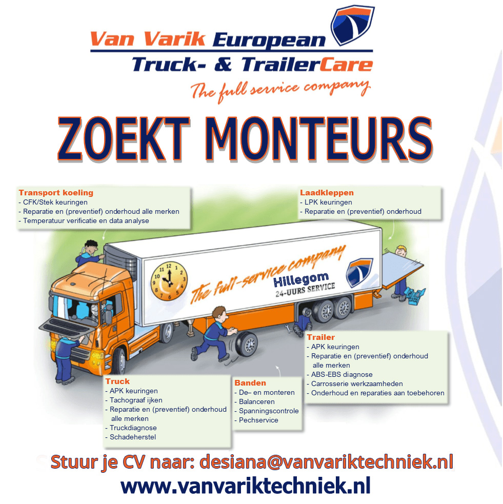 Monteur Vacature Varik Trucks Trailers